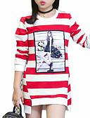 preiswerte Hosen & Leggings für Mädchen-Mädchen T-Shirt Alltag Gestreift Baumwolle Frühling Herbst Langarm Streifen Schwarz Purpur Rot