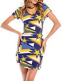 ieftine Rochii de Damă-Pentru femei Zvelt Pantaloni - Geometric Albastru piscină / Mini