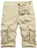 abordables Pantalones y Shorts de Hombre-Hombre Militar Tallas Grandes Algodón Corte Ancho Shorts Chinos Pantalones - Un Color