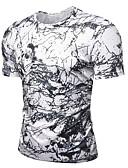 ieftine Maieu & Tricouri Bărbați-Bărbați Rotund - Mărime Plus Size Tricou Bumbac De Bază - Bloc Culoare / Manșon scurt / Zvelt