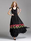tanie Sukienki-Damskie Podstawowy Bawełna Spódnica Sukienka - Solidne kolory Maxi / Lato / Wzory kwiatów