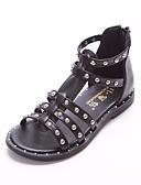 cheap Women's Dresses-Girls' Shoes Leatherette Summer Flower Girl Shoes Sandals for Kid's White / Black