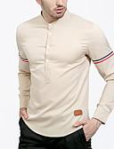 ieftine Maieu & Tricouri Bărbați-Bărbați Guler Standing Cămașă Șic Stradă - Mată