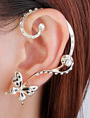 cheap Sexy Bodies-Mismatched Stud Earrings Ear Cuff Ear Climbers - Butterfly Simple, Fashion Jewelry Gold For Wedding Party / Evening
