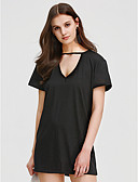 cheap Women's Dresses-Women's Club Going out Holiday Street chic Sheath Dress - Solid Colored Black High Rise Mini