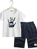 povoljno Kompletići za dječake-Djeca Dječaci Jednobojni Kratkih rukava Komplet odjeće / Slatko