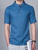זול חולצות לגברים-אחיד בסיסי חולצה-בגדי ריקוד גברים