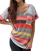 levne Tričko-Dámské - Barevné bloky Základní Tričko Bavlna