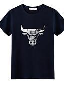 tanie Koszulki i tank topy męskie-T-shirt Męskie Okrągły dekolt Solidne kolory / Krótki rękaw