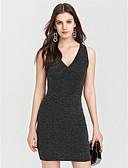 cheap Women's Dresses-Women's Club Bodycon Dress - Solid Color Black, Modern Style High Rise Deep V