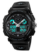 baratos Quartz-SKMEI Homens Relógio Esportivo Japanês Digital 50 m Impermeável Cronômetro Legal PU Banda Analógico-Digital Preta - Verde Azul Vermelho Escuro