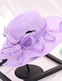 זול חולצה-כובע שמש - אחיד תחרה פפיון חמוד בגדי ריקוד נשים