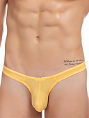 cheap Panties-Men's Sexy Briefs Underwear / G-string Underwear Solid Colored Low Rise