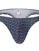 baratos Roupas Íntimas e Meias Masculinas-Homens G-string Underwear Cuecas Houndstooth Cintura Média