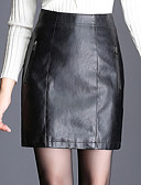 cheap Women's Skirts-Women's Street chic A Line Skirts - Solid Colored
