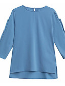 cheap Women's Blouses-Women's Basic Blouse - Solid Colored