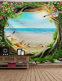 preiswerte Brautmutter Kleider-Architektur Wand-Dekor Polyester Retro Wandkunst, Wandteppiche Dekoration