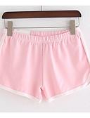 abordables Pantalones para Mujer-Mujer Básico Shorts Pantalones - Un Color
