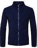 cheap Men's Jackets & Coats-Men's Sports Street chic Cotton Jacket - Solid Colored Stand / ONE-SIZE fits S to M, please refer to the Size Chart below. / Long Sleeve