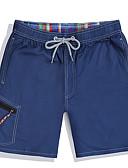 cheap Men's Swimwear-Men's One-piece - Solid Colored Lace up Swim Trunk