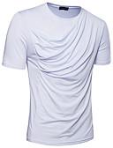 olcso Férfi pólók-Alap Férfi Póló - Egyszínű, Pliszé