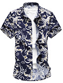 cheap Men's Shirts-Men's Plus Size Shirt - Floral Classic Collar / Please choose one size larger according to your normal size. / Short Sleeve