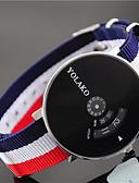 זול קווארץ-בגדי ריקוד נשים שעון יד קווארץ שעונים יום יומיים ניילון להקה אנלוגי אופנתי צבעוני כחול / אדום / ירוק - לבן / ורוד לבן / אדום צי / אדום / לבן