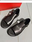 cheap Quartz Watches-Men's Cowhide Summer Comfort Sandals Black