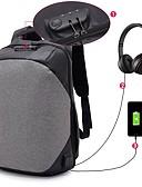 hesapli Paslanmaz Çelik-Erkek Çantalar Pamuk / Polyester / Polyester sırt çantası Fermuar için Dış mekan / Ofis ve Kariyer Sonbahar Kış Siyah / Gri