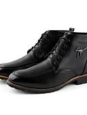 זול חגורות אופנתיות-בגדי ריקוד גברים נעליים עור חורף מגפיי קרב מגפיים מגפונים\מגף קרסול שחור / חום