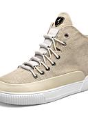 cheap Wedding Veils-Men's Linen / PU(Polyurethane) Spring / Fall Comfort Sneakers Black / Beige
