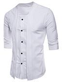 """זול חולצות לגברים-אחיד צווארון עגול בסיסי האיחוד האירופי / ארה""""ב גודל כותנה, חולצה - בגדי ריקוד גברים שרוכים לכל האורך / טלאים שחור"""
