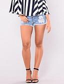 זול מכנסיים לנשים-בגדי ריקוד נשים בסיסי סגנון רחוב שורטים ג'ינסים מכנסיים אחיד