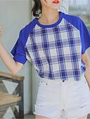 ieftine Bluză-tricou pentru femei - gât rotund dungat