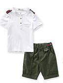 povoljno Kompletići za dječake-Djeca Dječaci Color block Kratkih rukava Komplet odjeće