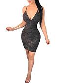 preiswerte Damen Kleider-Damen Bodycon Kleid - Rückenfrei, Solide Übers Knie
