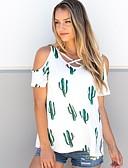 זול טישרט-פרחוני בסיסי טישרט - בגדי ריקוד נשים / קיץ