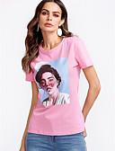 povoljno Majica s rukavima-Majica s rukavima Žene Dnevno Pamuk Jednobojni / Portret