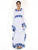 abordables Vestidos de Mujeres-Mujer Trabajo Sofisticado / Boho Corte Swing / Kaftan / Abaya Vestido Un Color / Bloques Alta cintura Maxi