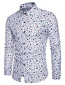 cheap Men's Shirts-Men's Cotton Shirt - Geometric / Please choose one size larger according to your normal size. / Long Sleeve