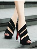 رخيصةأون لانجيري للنساء-للمرأة أحذية PU لربيع وصيف مريح كعوب كعب ستيلتو أسود