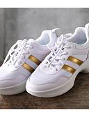 זול טישרט-בגדי ריקוד נשים סניקרס לריקוד טול נעלי ספורט עקב נמוך נעלי ריקוד לבן / הצגה / אימון