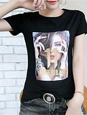 ieftine Tricou-tricou pentru femei - gât rotund solid colorat