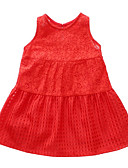 tanie Sukienki dla dziewczynek-Brzdąc Dla dziewczynek Jendolity kolor Bez rękawów Sukienka / Urocza