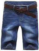 זול מכנסיים ושורטים לגברים-בגדי ריקוד גברים מידות גדולות כותנה / פוליאסטר רזה ג'ינסים / שורטים מכנסיים אחיד / אנא בחר\י מידה אחת גדולה יותר מהמידה הנורמלית שלך.