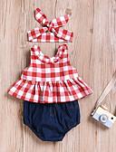 tanie Zestawy ubrań dla dziewczynek-Dziecko Dla dziewczynek Aktywny Codzienny Nadruk Bez rękawów Regularny Bawełna / Poliester Komplet odzieży Czerwony