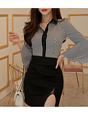 preiswerte Bauchtanzkleidung-Damen Gestreift Hemd