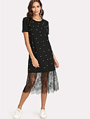 저렴한 여성 드레스-여성용 작동 시프트 드레스 미디