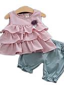 זול ילדים כובעים ומצחיות-סט של בגדים ללא שרוולים אחיד בסיסי בנות תִינוֹק / פעוטות