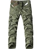 povoljno Muške duge i kratke hlače-Muškarci Veći konfekcijski brojevi Pamuk Širok kroj Chinos Hlače - Jednobojni Bež